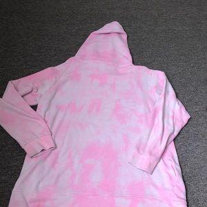 PINK Victoria's Secret Tops - Victoria's Secret Pink Tie Dye Hoodie Sweatshirt
